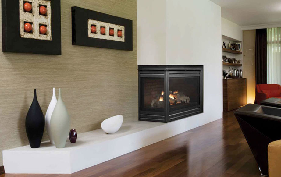 HVB-Corner Fireplace